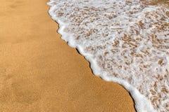 Onda della spiaggia dell'oceano Fotografia Stock