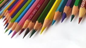 Onda delle matite di colore Fotografia Stock