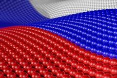 Onda delle sfere nei colori della Russia Fotografia Stock Libera da Diritti