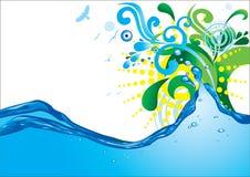 onda di acqua astratta Fotografia Stock Libera da Diritti