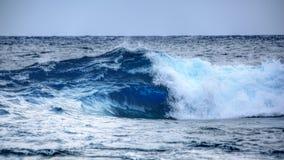 Onda di acqua blu Fotografia Stock Libera da Diritti