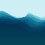 Onda di acqua Illustrazione di vettore per la vostra acqua dolce di design illustrazione vettoriale