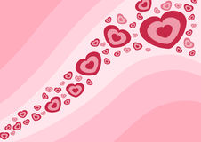 Onda di amore Immagini Stock Libere da Diritti