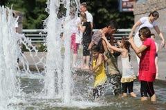 Onda di calore anomala a Mosca Fotografie Stock Libere da Diritti