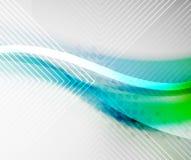 Onda di colore della sfuocatura di verde blu royalty illustrazione gratis