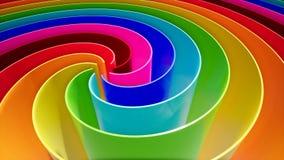 Onda di colore nello stile astratto su un fondo variopinto Fondo astratto della curva Priorità bassa variopinta moderna illustrazione di stock
