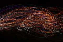 Onda di energia di incandescenza Fondo dell'estratto di effetto della luce Fotografie Stock