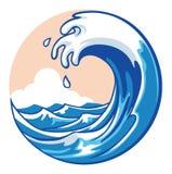 Onda di oceano illustrazione di stock