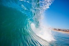 Onda di oceano alla spiaggia Fotografia Stock
