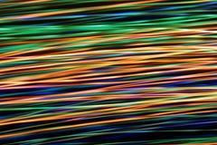 Onda digital abstrata iluminada de partículas de incandescência Fotografia de Stock