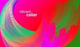 Onda dinâmica da cor ilustração do vetor