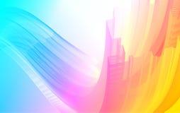 Onda dinâmica do arco-íris ilustração stock