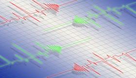 Onda do Cardiogram Imagem de Stock Royalty Free