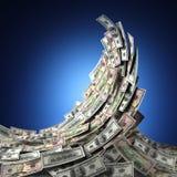 Onda do dinheiro Imagens de Stock