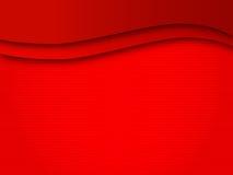 A onda do fundo alinha o campo vermelho Fotos de Stock