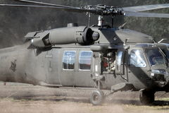 Onda do helicóptero de Apache Fotografia de Stock