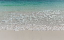 Onda do mar e praia da areia Foto de Stock Royalty Free