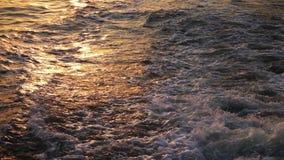 Onda do mar em raios do sol vídeos de arquivo