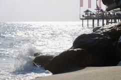 Onda do mar Onda grande Sandy Beach imagem de stock royalty free