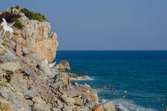 Onda do mar Onda grande Sandy Beach imagem de stock