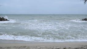 Onda do mar lentamente vídeos de arquivo