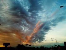 Onda do por do sol Foto de Stock Royalty Free