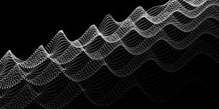 Onda do ruído dos pontos Fundo digital abstrato CCB da tecnologia ilustração royalty free