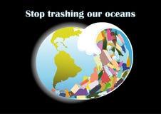 Onda do tsunami dos restos plásticos Imagem de Stock
