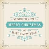 Onda do vintage do Feliz Natal no fundo de papel Foto de Stock Royalty Free
