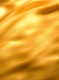 Onda dorata del panno Fotografia Stock Libera da Diritti