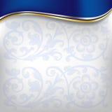 Onda dourada no fundo azul Imagens de Stock