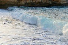 Onda e sabbia del mare Fotografia Stock