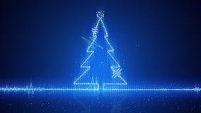 Onda eléctrica del árbol de navidad de Techno Fotografía de archivo