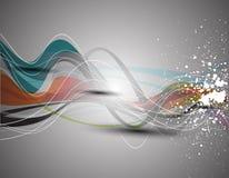Onda elegante abstracta del vector Foto de archivo