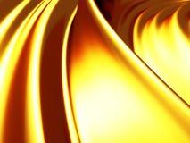 A onda elegante dourada lustrosa alinha o fundo Foto de Stock