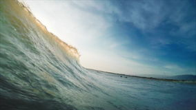 Onda en el mar almacen de metraje de vídeo
