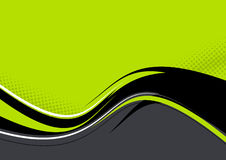 Onda en fondo verde Foto de archivo libre de regalías