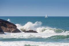 Onda en Joaquina Beach Fotografía de archivo libre de regalías