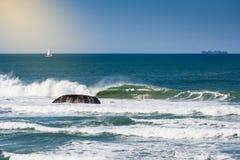 Onda en Joaquina Beach Imagenes de archivo