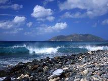 Onda en la isla de Tortola foto de archivo libre de regalías