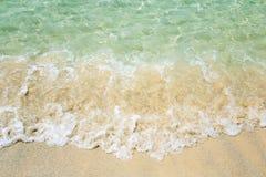Onda en la playa fotos de archivo libres de regalías