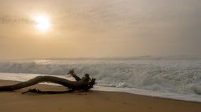 Onda en la playa imagen de archivo libre de regalías