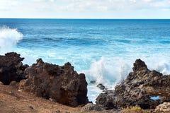 A onda espirra de Oceano Atlântico Fotos de Stock Royalty Free