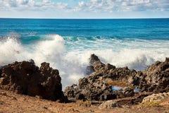 A onda espirra de Oceano Atlântico Foto de Stock Royalty Free