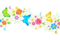 Onda floral do verão ilustração royalty free