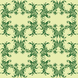 Onda floral retro do papel de parede do teste padrão Ilustração Stock