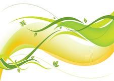Onda floreale verde Fotografie Stock Libere da Diritti