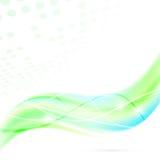 Onda fresca verde abstrata moderna do swoosh Foto de Stock