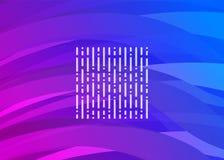 Onda futurista Púrpura-azul de Digitaces Fotografía de archivo