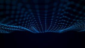 Onda futuristica del punto Fondo astratto con un'onda dinamica Illustrazione di tecnologia di dati illustrazione di stock